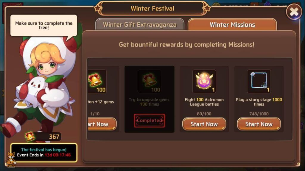 Festival Event Page - Storyline Done