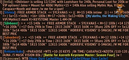 Trade Chat Constant Ad spam