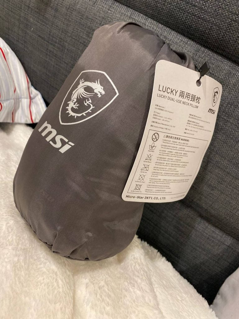 MSI Neck Pillow Packaged Received